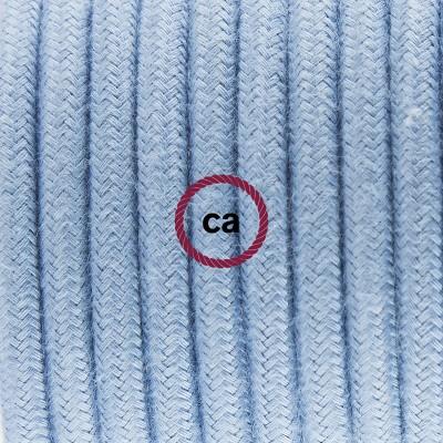 Pendel en porcelana, lámpara colgante cable textil Océano en Algodón RC53