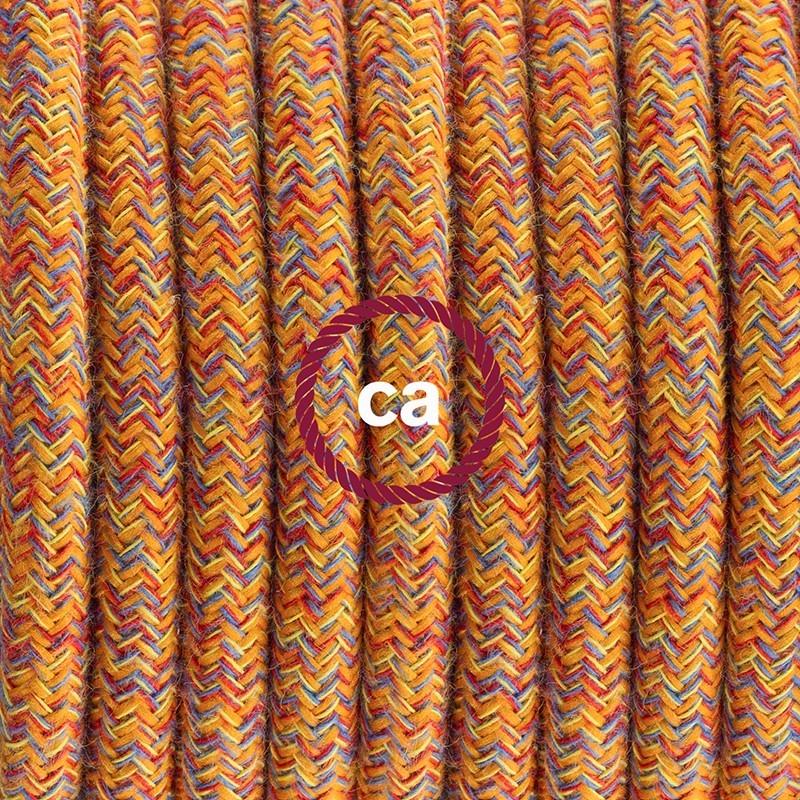 Pendel único, lámpara colgante cable textil Indian Summer Algodón RX07