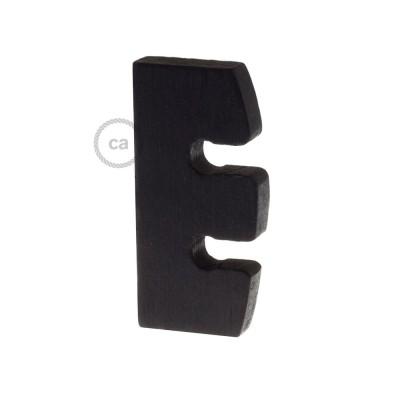 Ajustador de altura para lámpara colgante en madera pintada negro. Made in Italy.