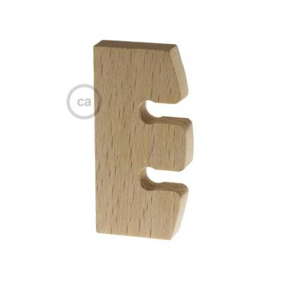Ajustador de altura para lámpara colgante en madera neutral sin tratamiento. Made in Italy.