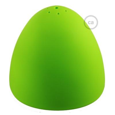 Pantalla en silicona verde completo de difusor y prensaestopa. Diámetro 25 cm.