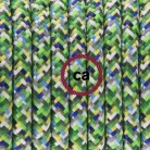 Cableado para lámpara, cable RX05 Efecto Seda Pixel Verde 1,8m. Elige tu el color de la clavija y del interruptor!