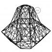 Jaula XXL lámpara desnuda Darth metal Negro con socket E27