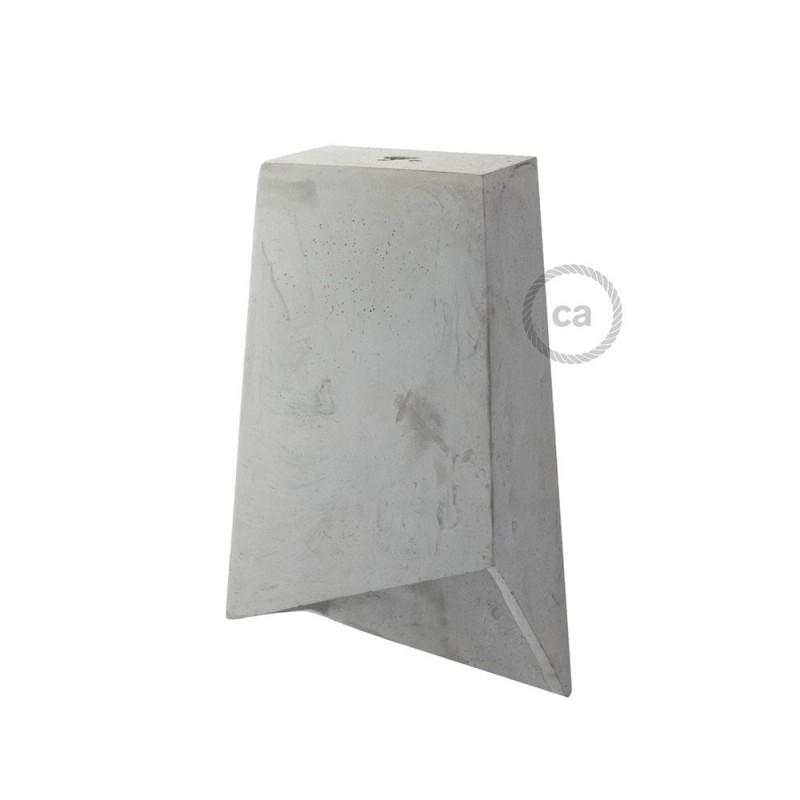 Pantalla de cemento Prisma completo de prensaestopa y socket E27