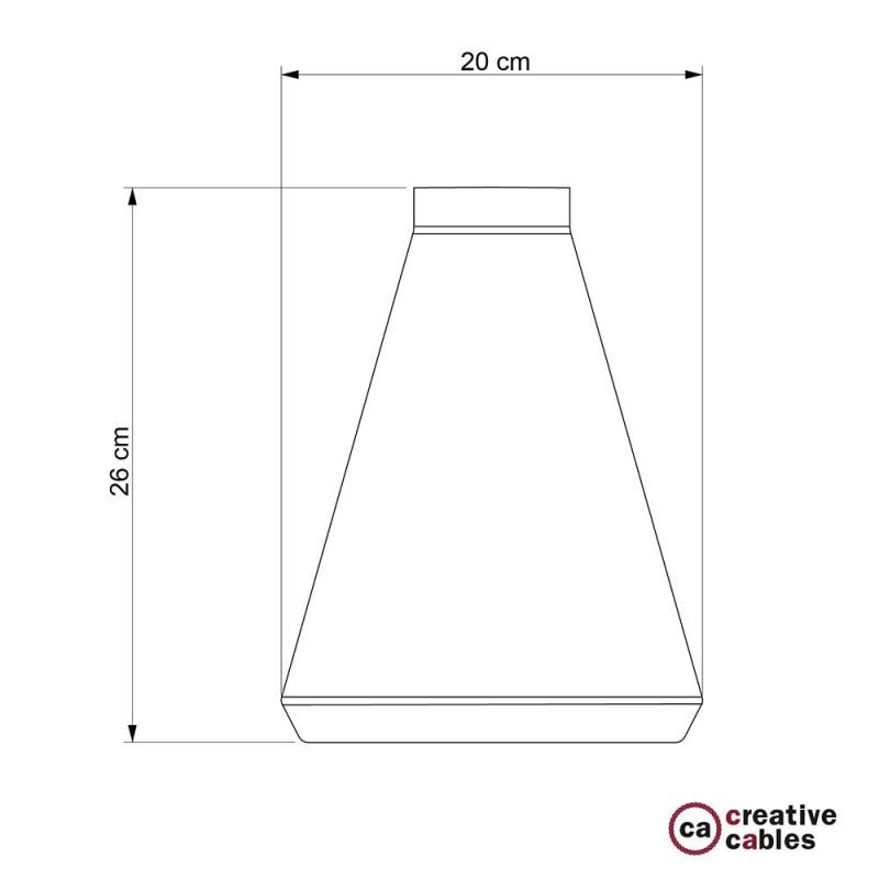 Pantalla de cemento Embudo completo de prensaestopa y socket E27