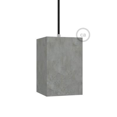 Pantalla de cemento Cubo completo de prensaestopa y socket E27