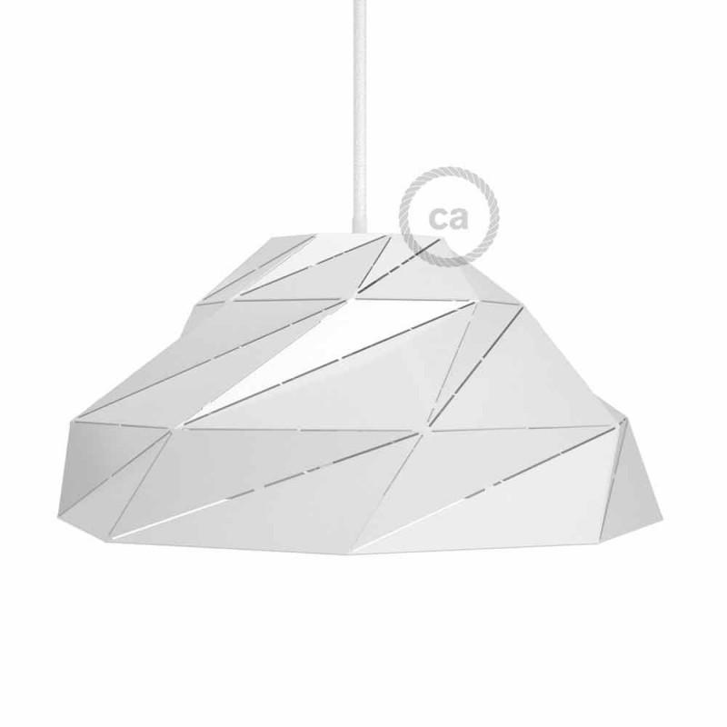 Pantalla Nuvola de metal blanca brillante con socket E27