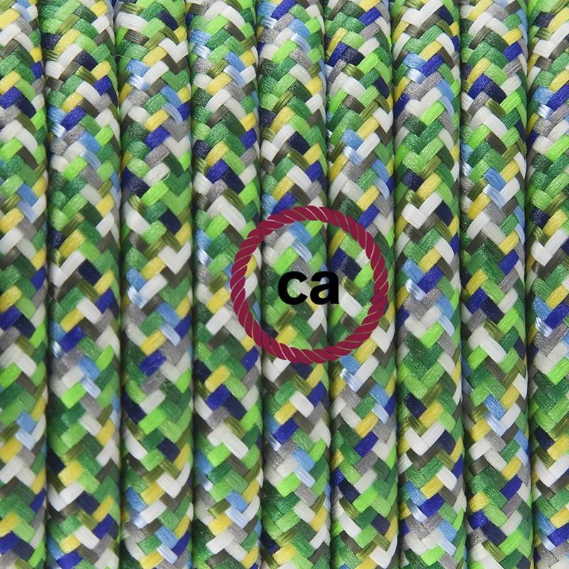 Cableado para lámpara de pie, cable RX05 Efecto Seda Pixel Verde 3 m. Elige tu el color de la clavija y del interruptor!