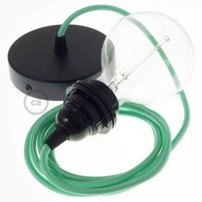 Pendel para pantalla, lámpara colgante cable textil Ópalo en tejido Rayón RH69