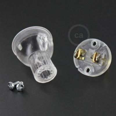 Clavija transparente en termoplástico - SPCO1-2PT