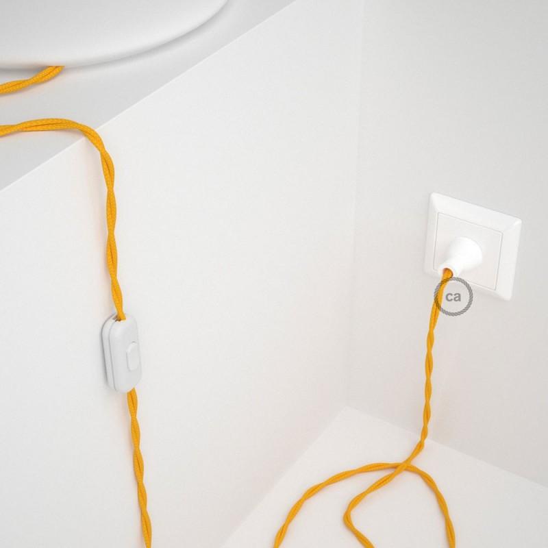 Cableado para lámpara de mesa, cable TM10 Rayón Amarillo 1,8 m. Elige el color de la clavija y del interruptor!