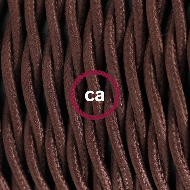 Cableado para lámpara de mesa, cable TM13 Rayón Café 1,8 m. Elige el color de la clavija y del interruptor!