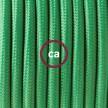 Cableado para lámpara de mesa, cable RM06 Rayón Verde 1,8 m. Elige el color de la clavija y del interruptor!
