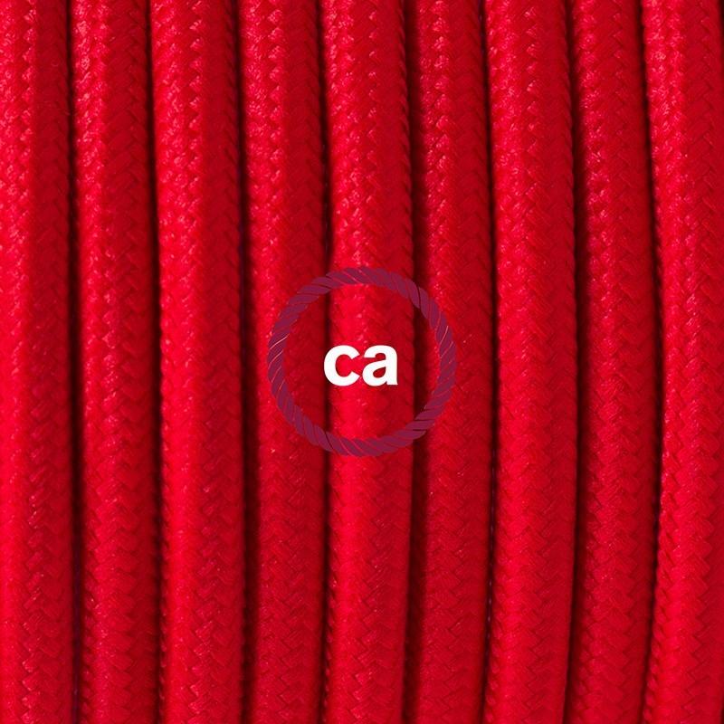 Cableado para lámpara de mesa, cable RM09 Rayón Rojo 1,8 m. Elige el color de la clavija y del interruptor!