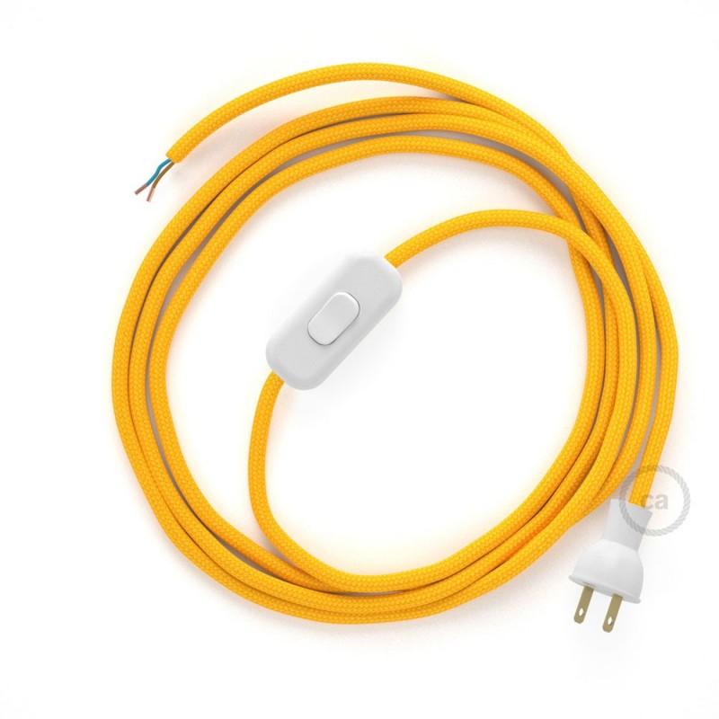 Cableado para lámpara de mesa, cable RM10 Rayón Amarillo 1,8 m. Elige el color de la clavija y del interruptor!