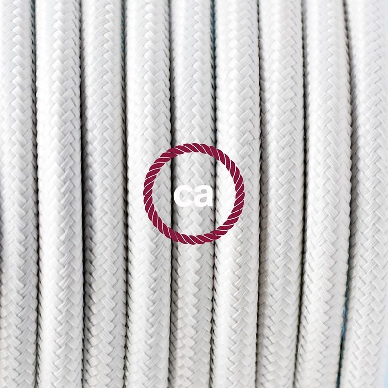 Cableado para lámpara de mesa, cable RM01 Rayón Blanco 1,8 m. Elige el color de la clavija y del interruptor!