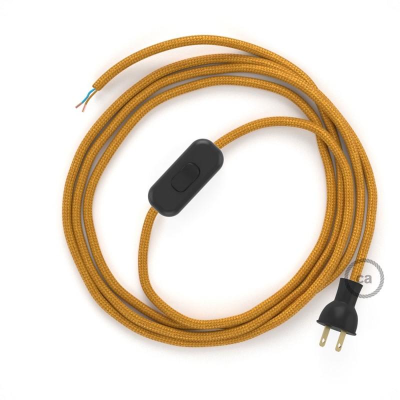 Cableado para lámpara de mesa, cable RM05 Rayón Dorado 1,8 m. Elige el color de la clavija y del interruptor!