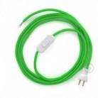 Cableado para lámpara de mesa, cable RM18 Rayón Verde Lima 1,8 m. Elige el color de la clavija y del interruptor!