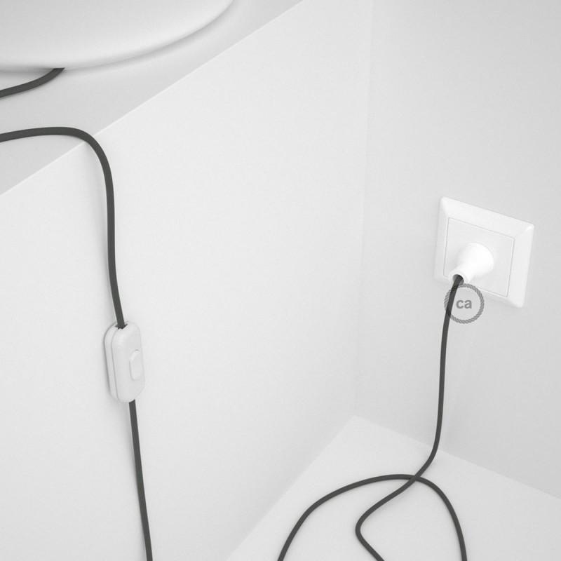 Cableado para lámpara de mesa, cable RM03 Rayón Gris 1,8 m. Elige el color de la clavija y del interruptor!