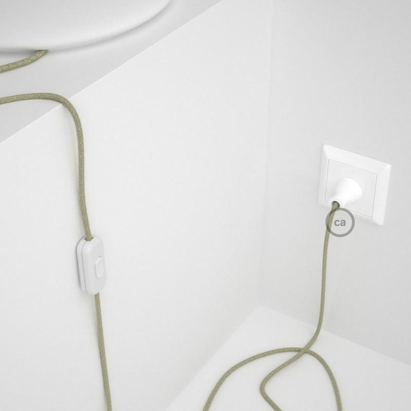 Cableado para lámpara de mesa, cable RN01 Lino Natural Neutro 1,8 m. Elige el color de la clavija y del interruptor!