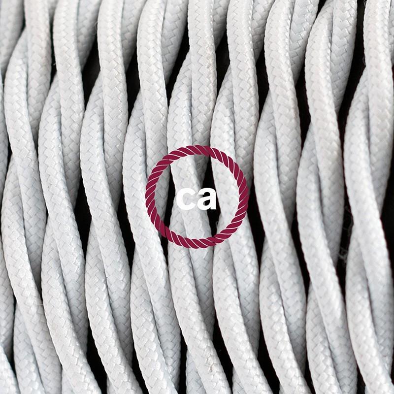 Cableado para lámpara de mesa, cable TM01 Rayón Blanco 1,8 m. Elige el color de la clavija y del interruptor!