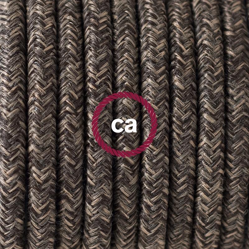 Cableado para lámpara de mesa, cable RN04 Lino Natural Café 1,8 m. Elige el color de la clavija y del interruptor!