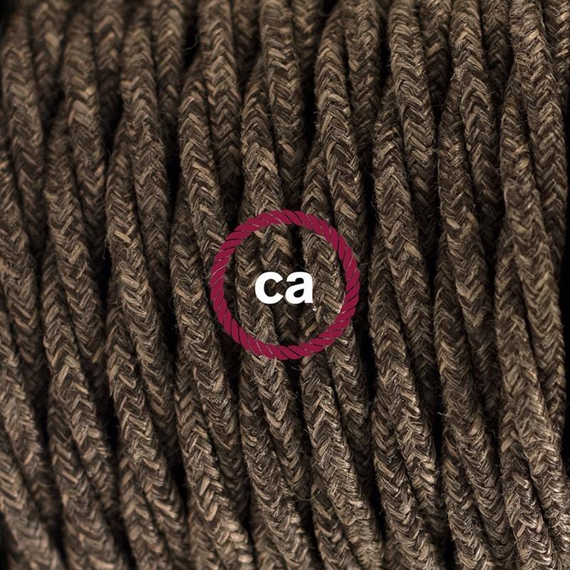 Cableado para lámpara de mesa, cable TN04 Lino Natural Café 1,8 m. Elige el color de la clavija y del interruptor!