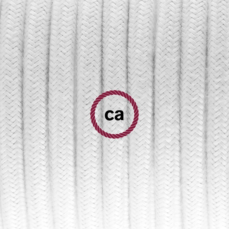 Cableado para lámpara de mesa, cable RC01 Algodón Blanco 1,8 m. Elige el color de la clavija y del interruptor!