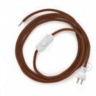 Cableado para lámpara de mesa, cable RC23 Algodón Ciervo 1,8 m. Elige el color de la clavija y del interruptor!