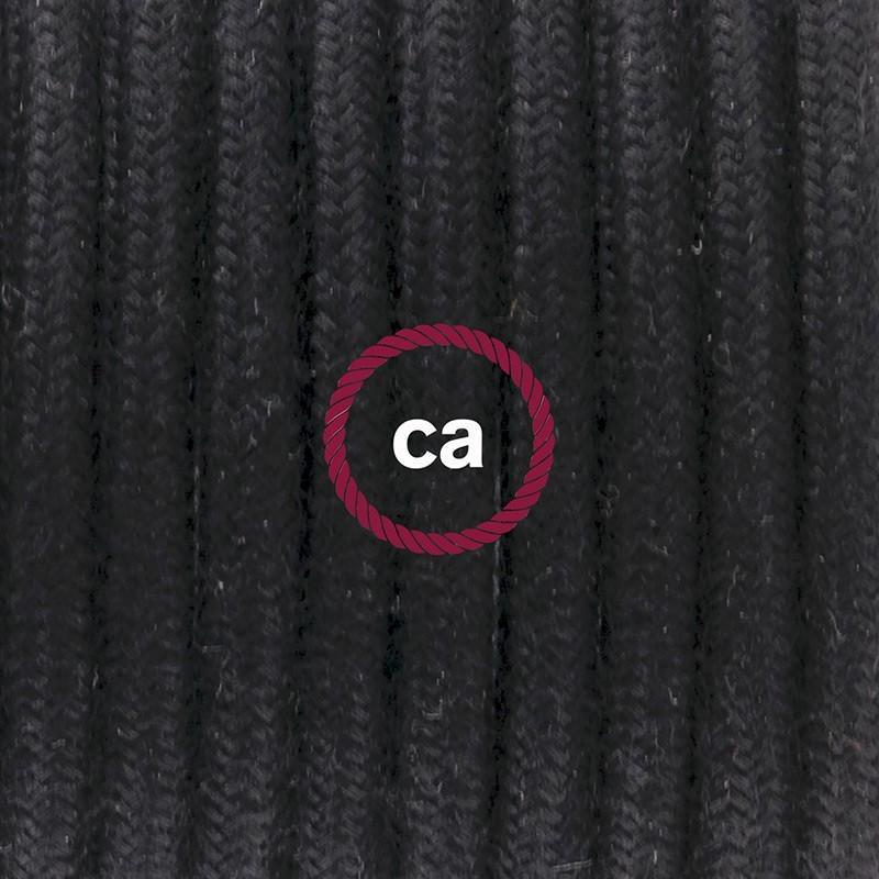 Cableado para lámpara de mesa, cable RC04 Algodón Negro 1,8 m. Elige el color de la clavija y del interruptor!