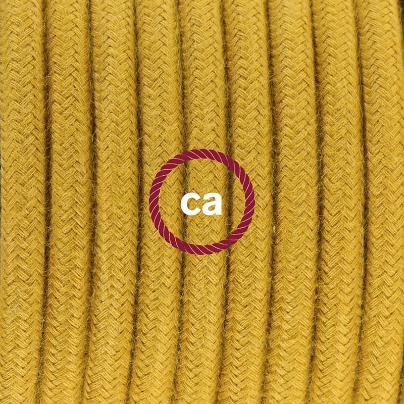 Cableado para lámpara de mesa, cable RC31 Algodón Miel Dorado 1,8 m. Elige el color de la clavija y del interruptor!