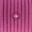 Cableado para lámpara de mesa, cable RC32 Algodón Rojo Violeta 1,8 m. Elige el color de la clavija y del interruptor!