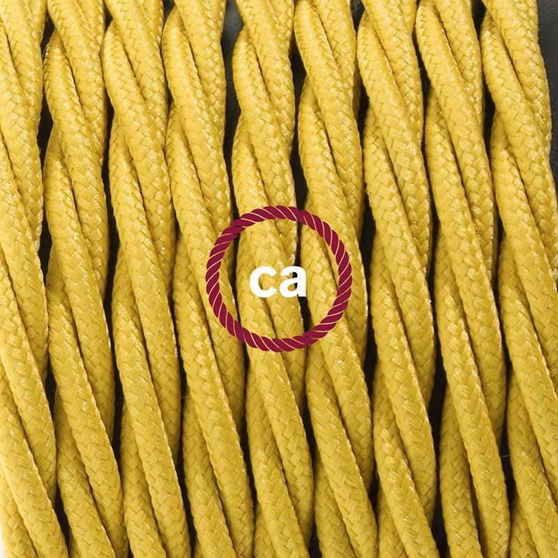 Cableado para lámpara de mesa, cable TM25 Rayón Mostaza 1,8 m. Elige el color de la clavija y del interruptor!