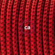 Cableado para lámpara de mesa, cable RT94 Rayón Red Devil 1,8 m. Elige el color de la clavija y del interruptor!
