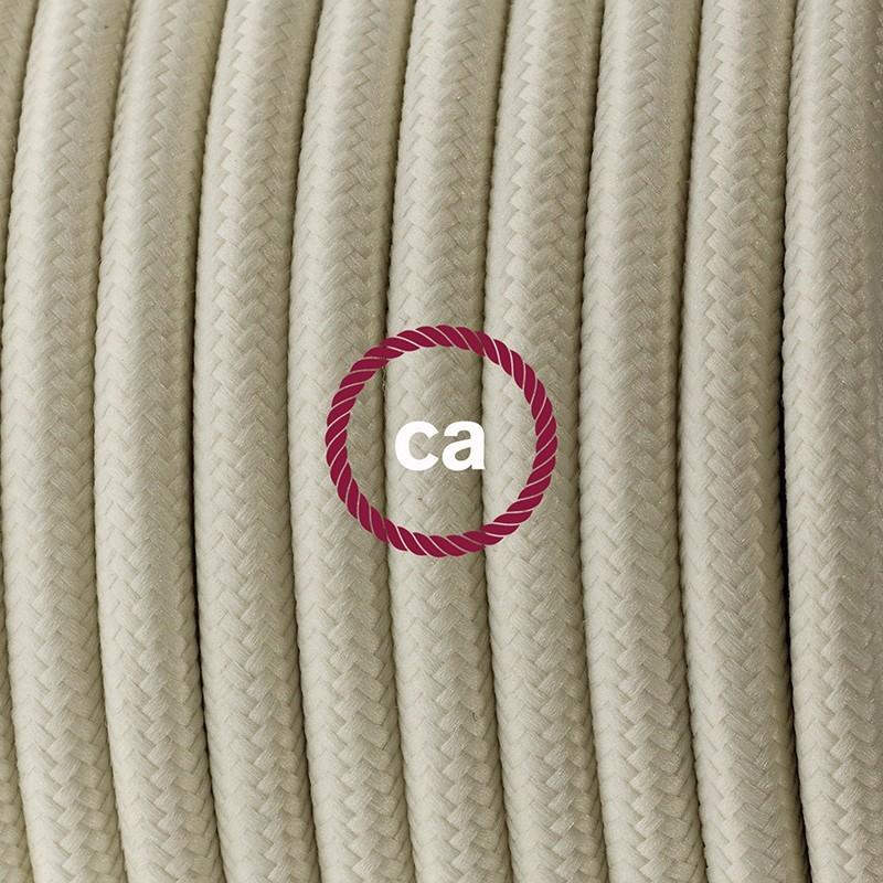 Cableado para lámpara de mesa, cable RM00 Rayón Marfil 1,8 m. Elige el color de la clavija y del interruptor!