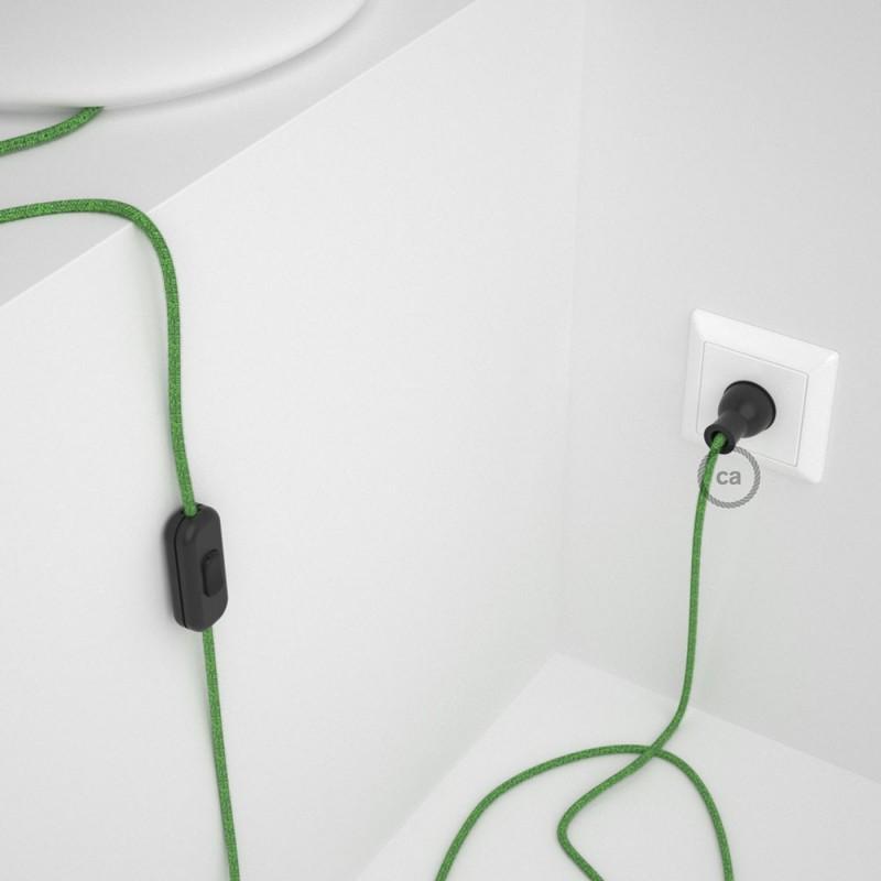 Cableado para lámpara de mesa, cable RX08 Algodón Bronte 1,8 m. Elige el color de la clavija y del interruptor!