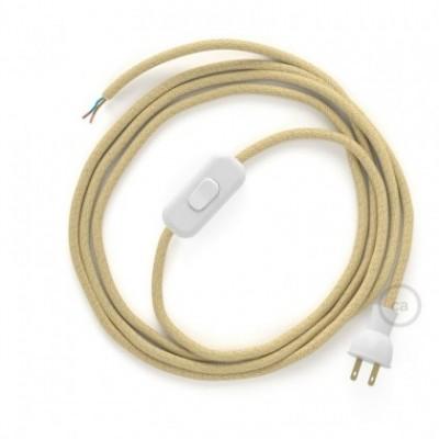 Cableado para lámpara de mesa, cable RN06 Yute 1,8 m. Elige el color de la clavija y del interruptor!