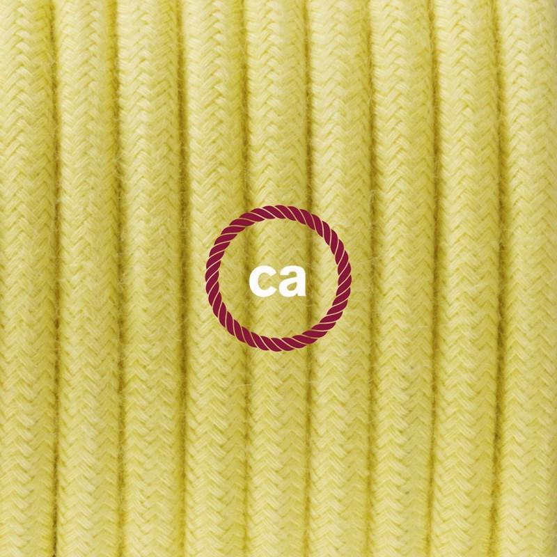 Cableado para lámpara de mesa, cable RC10 Algodón Amarillo Pastel 1,8 m. Elige el color de la clavija y del interruptor!