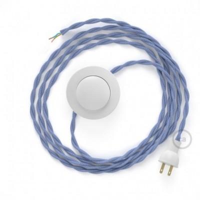 Cableado para lámpara de piso, cable TM07 Rayón Lila 3 m. Elige tu el color de la clavija y del interruptor!