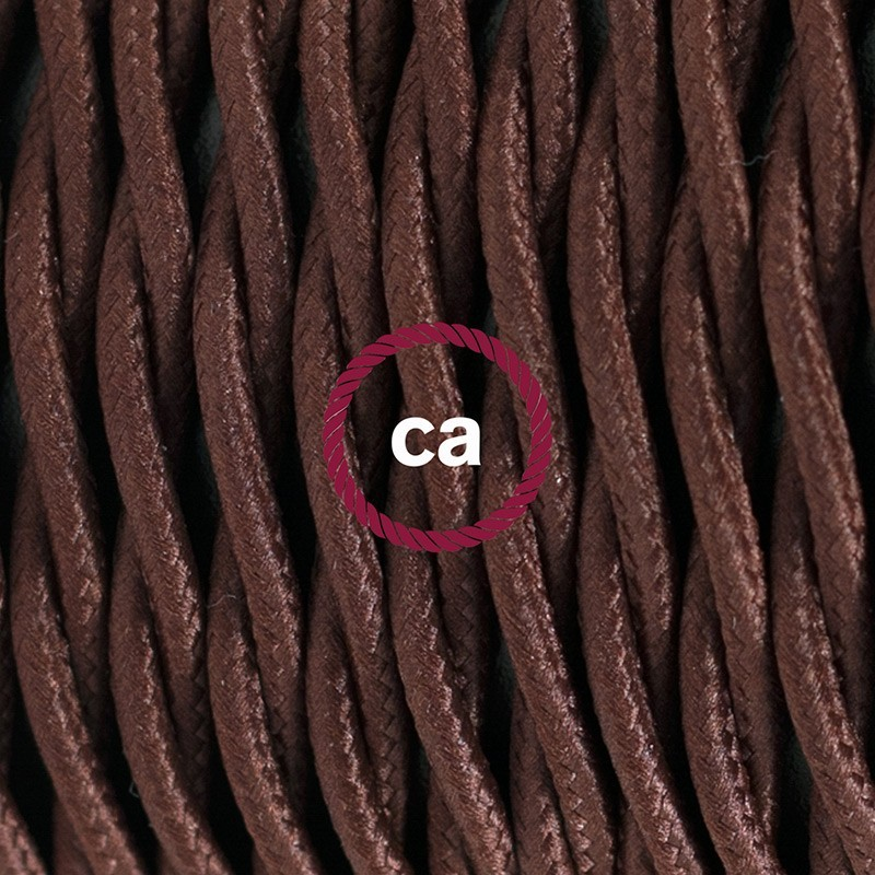Cableado para lámpara de piso, cable TM13 Rayón Café 3 m. Elige tu el color de la clavija y del interruptor!