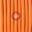 Cableado para lámpara de piso, cable RM15 Rayón Naranja 3 m. Elige tu el color de la clavija y del interruptor!