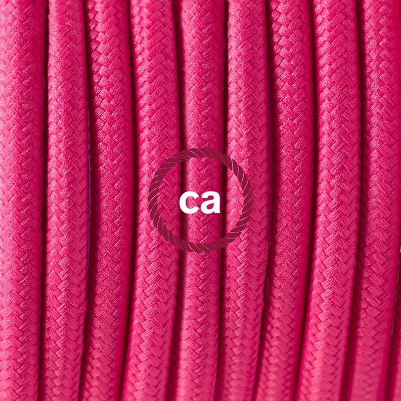 Cableado para lámpara de piso, cable RM08 Rayón Fucsia 3 m. Elige tu el color de la clavija y del interruptor!