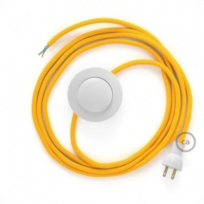 Cableado para lámpara de piso, cable RM10 Rayón Amarillo 3 m. Elige tu el color de la clavija y del interruptor!