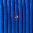 Cableado para lámpara de piso, cable RM12 Rayón Azul 3 m. Elige tu el color de la clavija y del interruptor!