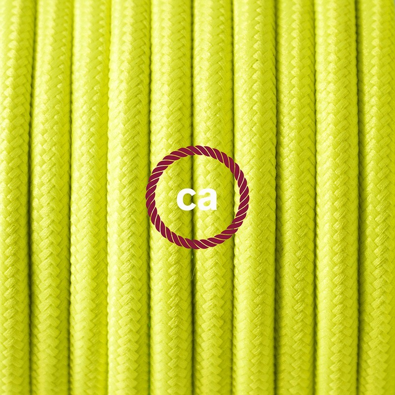 Cableado para lámpara de piso, cable RF10 Rayón Amarillo Fluorescente 3 m. Elige tu el color de la clavija y del interruptor!