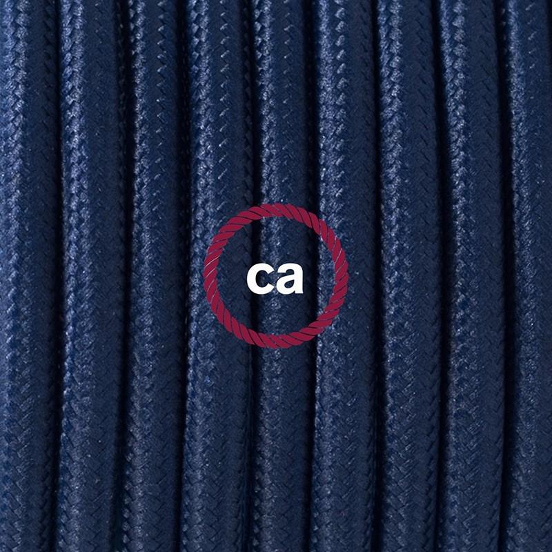 Cableado para lámpara de piso, cable RM20 Rayón Azul Marino 3 m. Elige tu el color de la clavija y del interruptor!