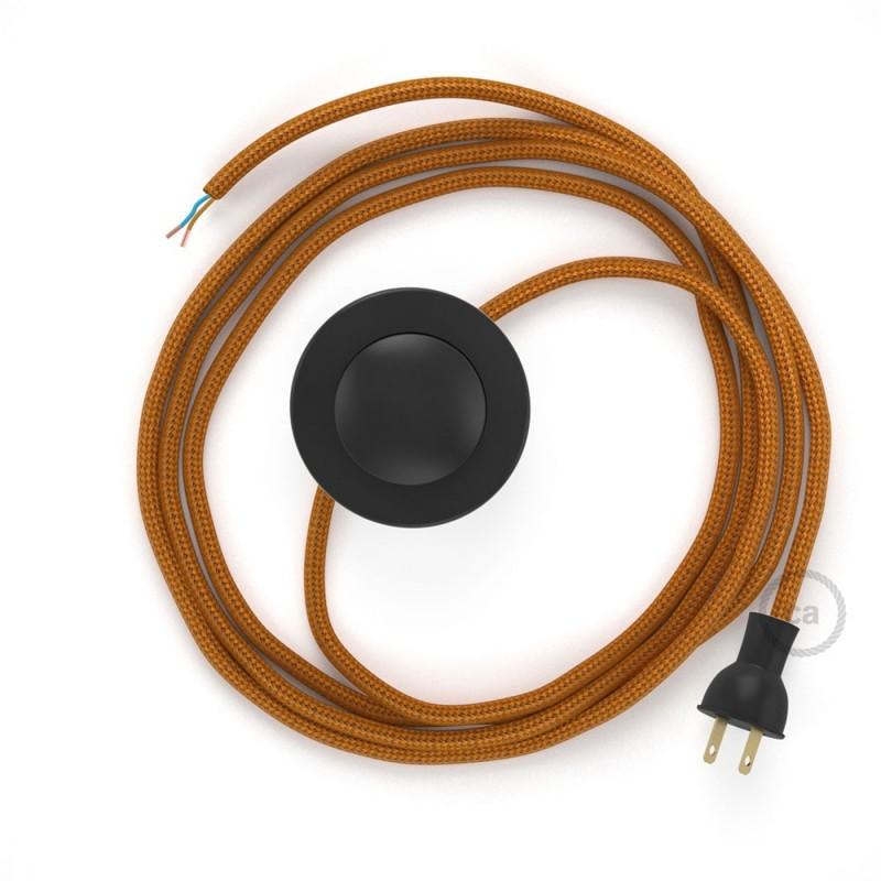 Cableado para lámpara de piso, cable RM22 Rayón Whiskey 3 m. Elige tu el color de la clavija y del interruptor!