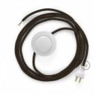 Cableado para lámpara de piso, cable RN04 Lino Natural Café 3 m. Elige tu el color de la clavija y del interruptor!