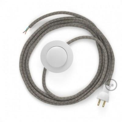 Cableado para lámpara de piso, cable RD61 Rombo Rosa Viejo 3 m. Elige tu el color de la clavija y del interruptor!