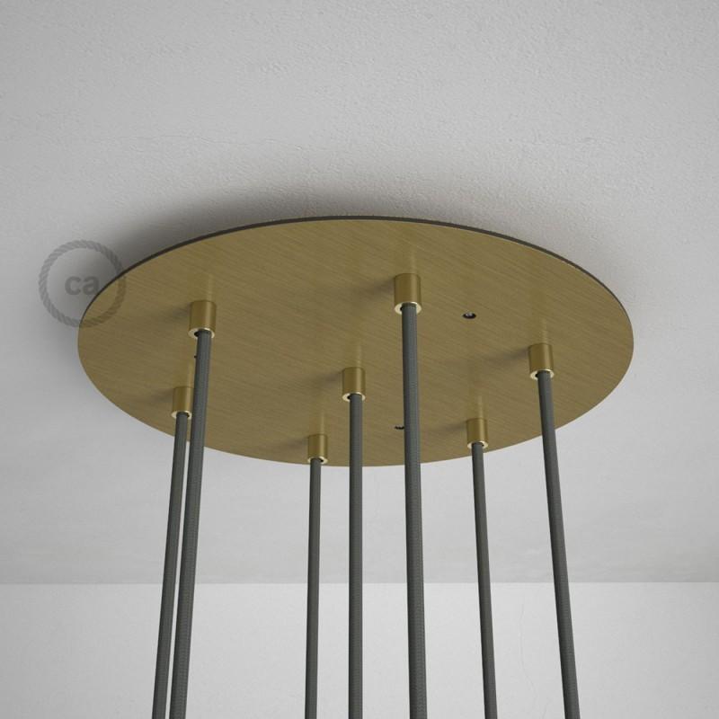 Escudo XXL circular 35cm a 7 agujeros latón satinado completo de accesorios